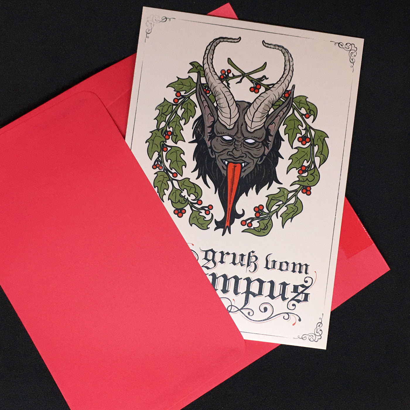 Greetings from the Krampus Card