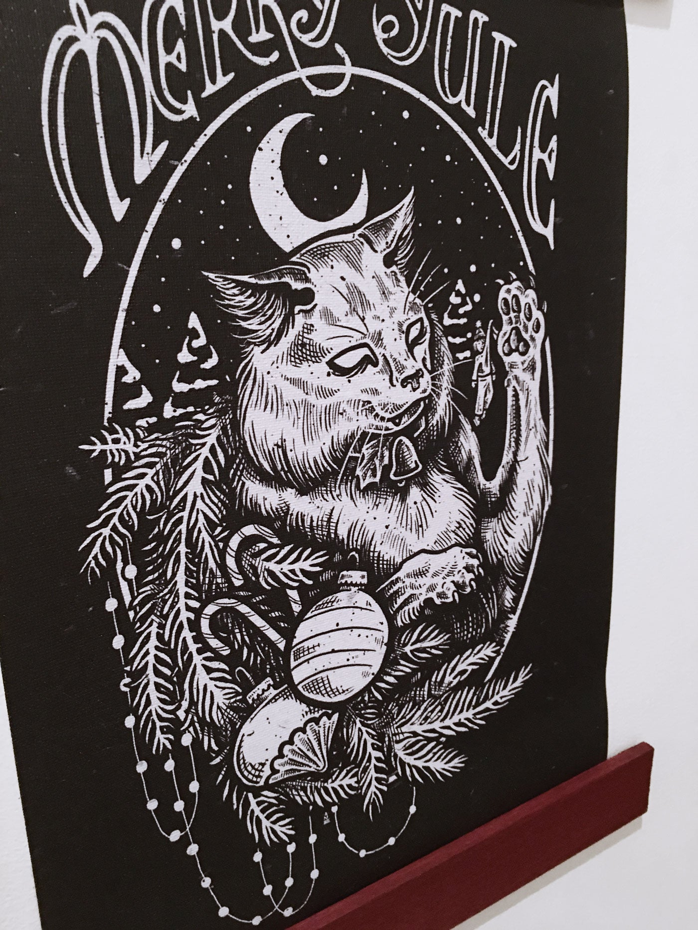 The Yule Cat Wall Hanging