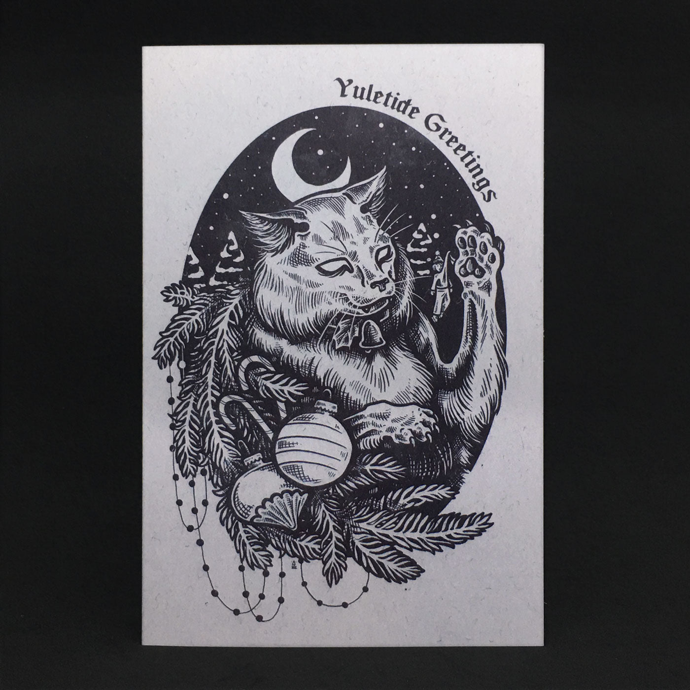 The Yule Cat Greeting Card