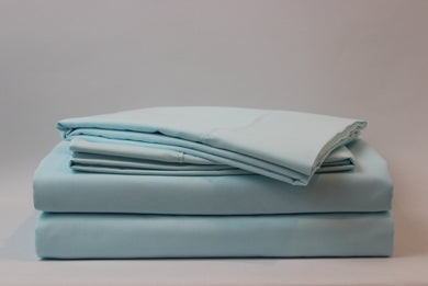 1800 Series Aqua Pillowcase Set