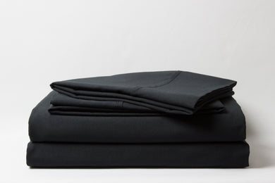 1800 Series Black Pillowcase Set