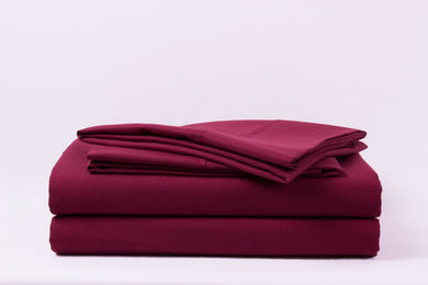 1800 Series Burgundy Pillowcase Set