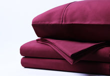 1800 Series Burgundy Sheet Set