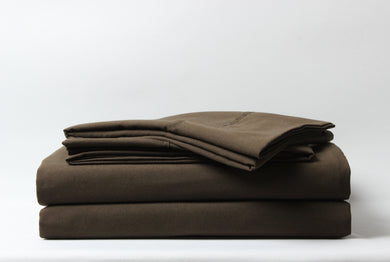 1800 Series Chocolate Pillowcase Set