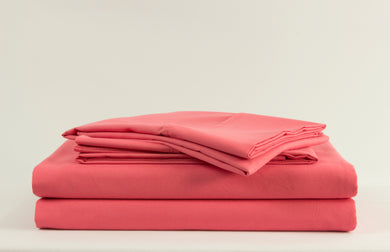 1800 Series Pink Coral Pillowcase Set