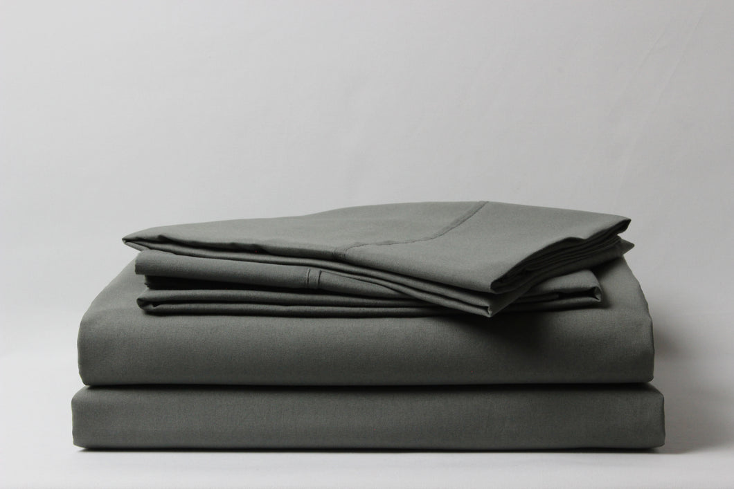 1800 Series Gray Pillowcase Set