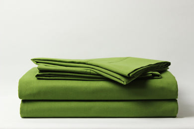 1800 Series Green Pillowcase Set