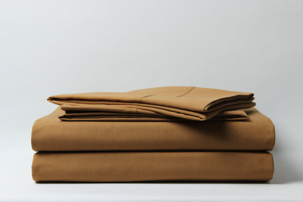 1800 Series Light Brown Pillowcase Set