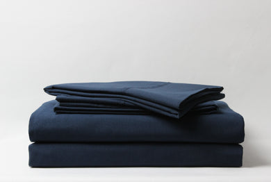 1800 Series Navy Pillowcase Set