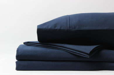 1800 Series Navy Sheet Set