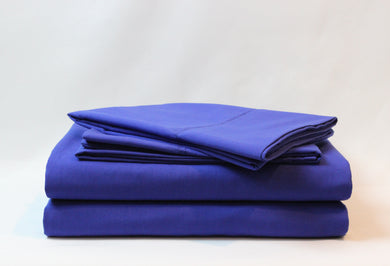 1800 Series Royal Blue Pillowcase Set