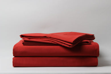 1800 Series Rust Pillowcase Set