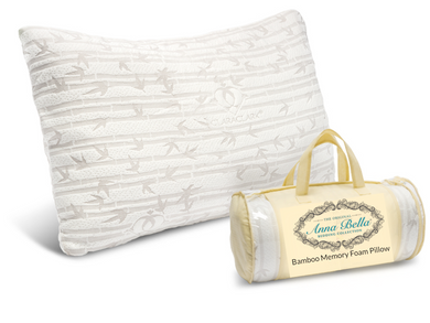 Anna Bella Bedding Bamboo Memory Foam Bed Pillow