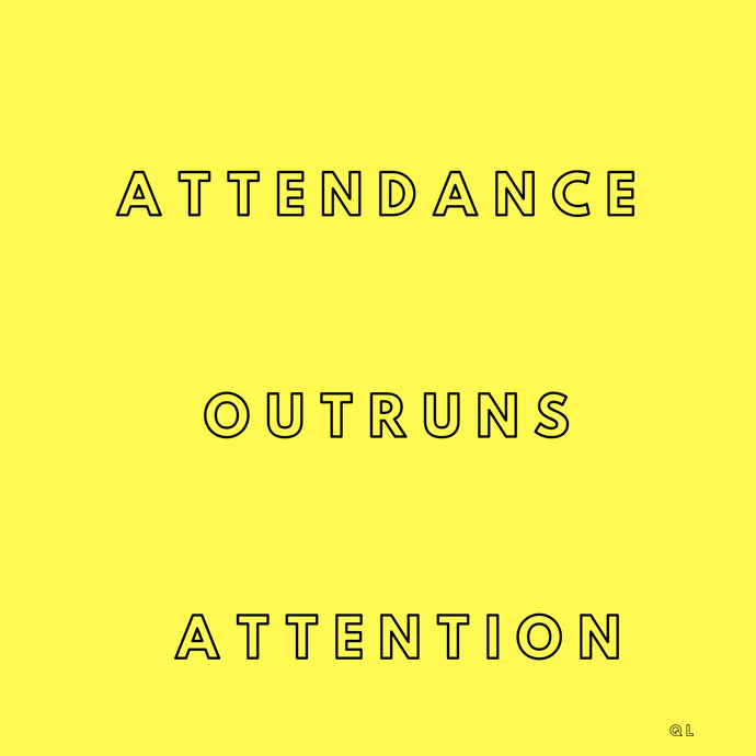 Attendance Outruns Attention: Warm Up Laps vs Victory Laps