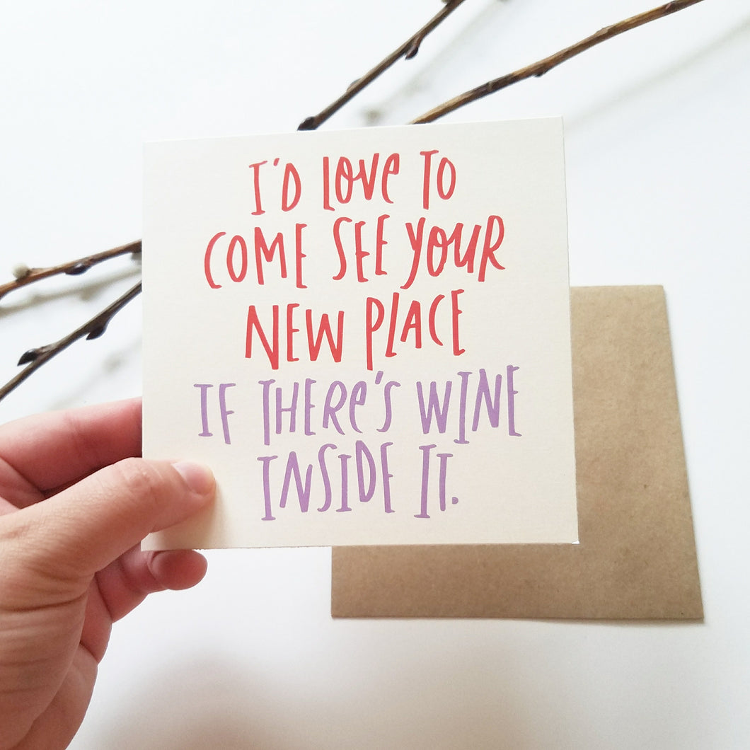 New Home Greeting Card - Wine