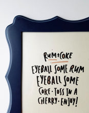 Rum and Coke funny drink print