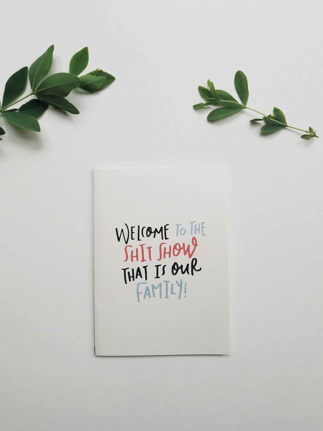 Welcome to the family funny greeting card