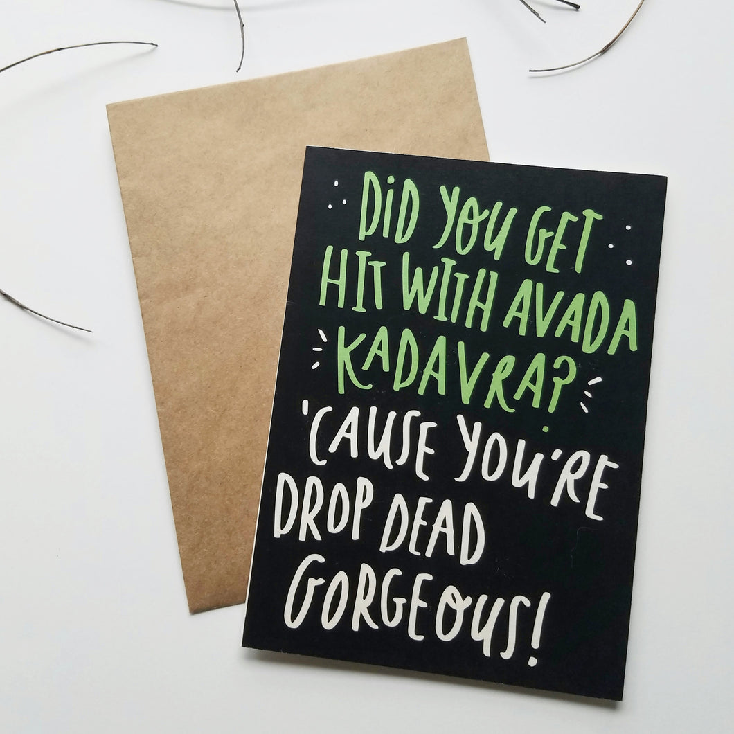 Avada Kadavra Pick-Up Line Card