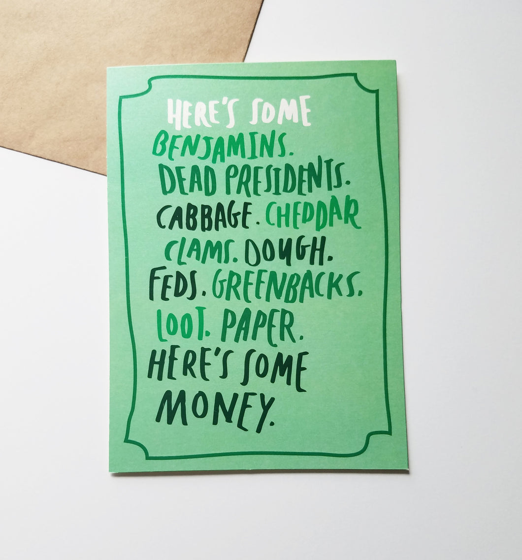 All About the Benjamin's Greeting Card
