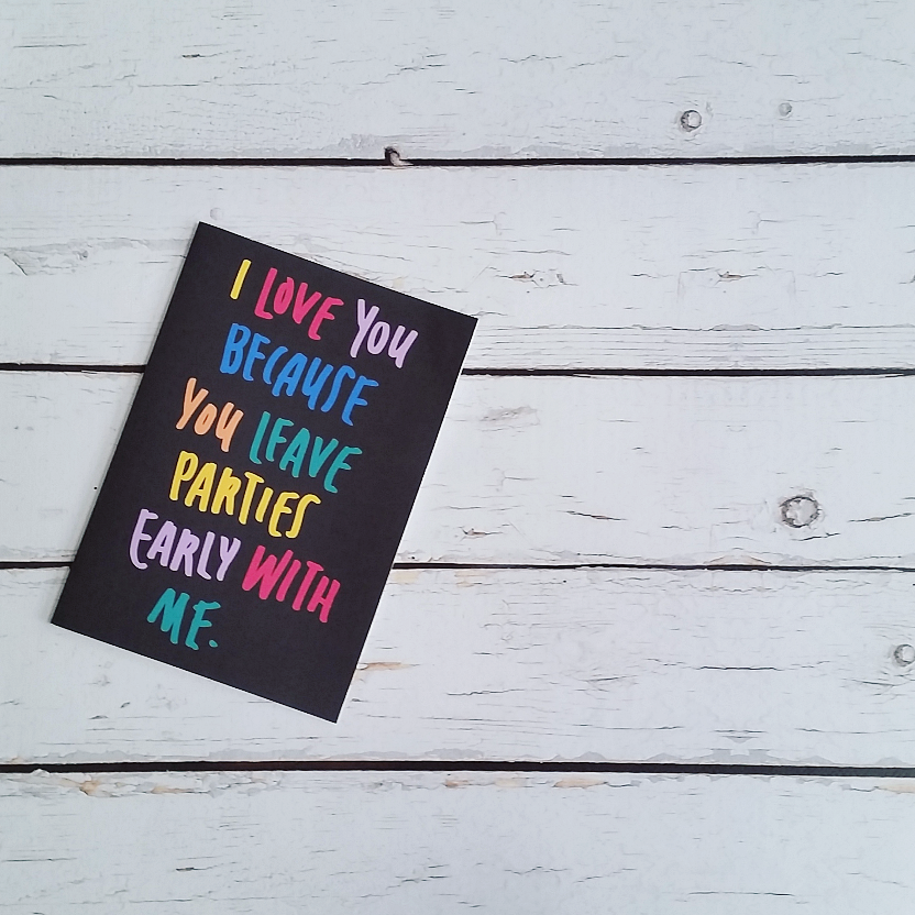 Leave Parties Early Funny Best Friend's Greeting Card