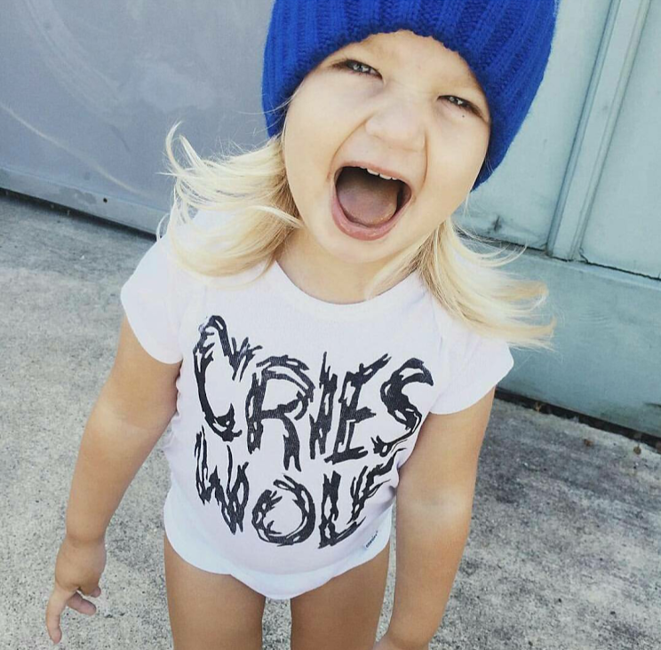 Cries Wolf Baby Onsie Graphic Tee