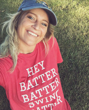 Hey Batter Batter ADULT Graphic Tee Baseball Tee