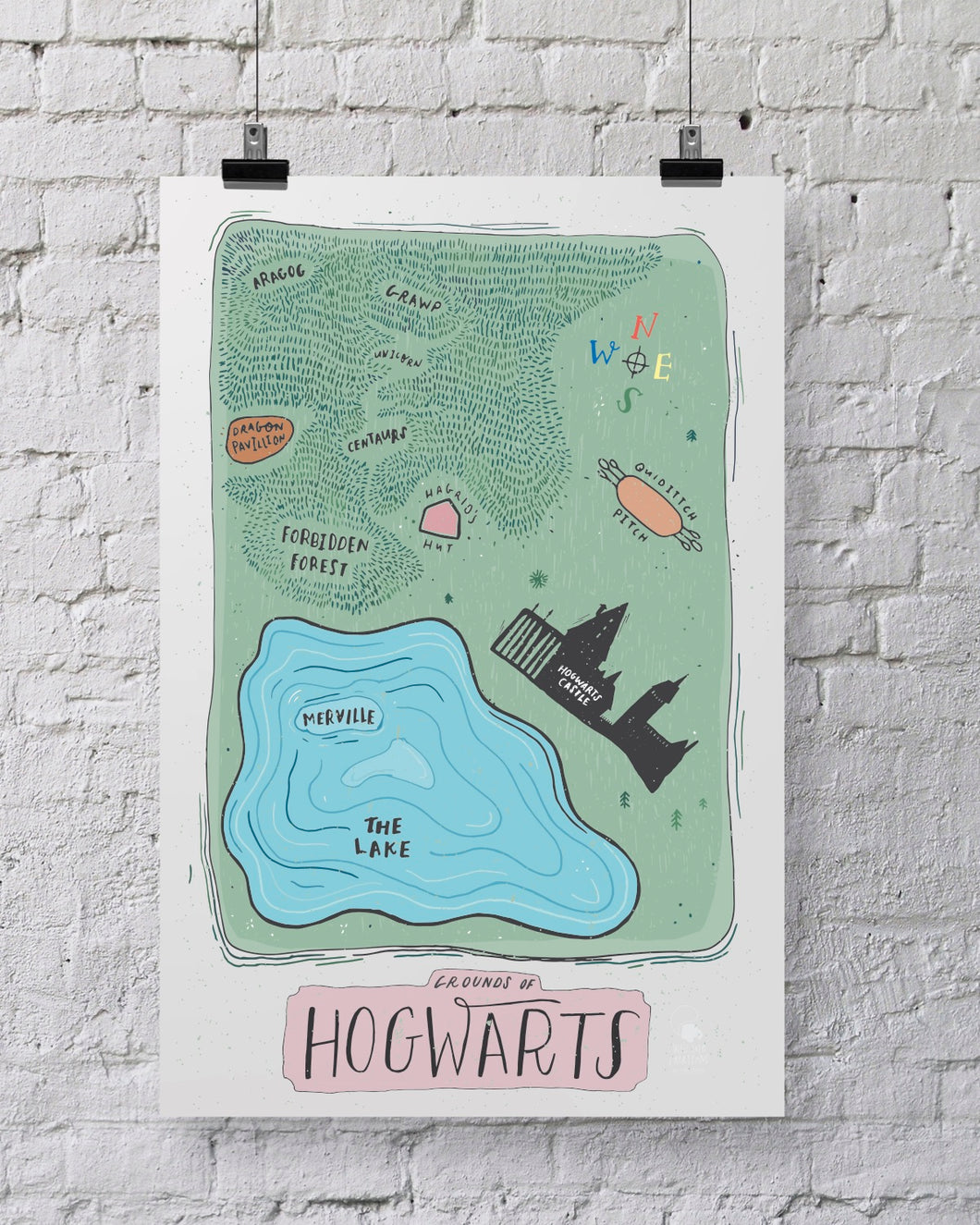 Hogwarts Map of Grounds