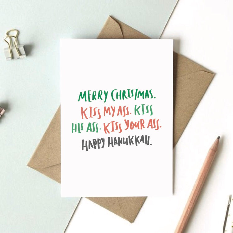 Funny Christmas Vacation movie quote Holiday Card / Hanukkah Card