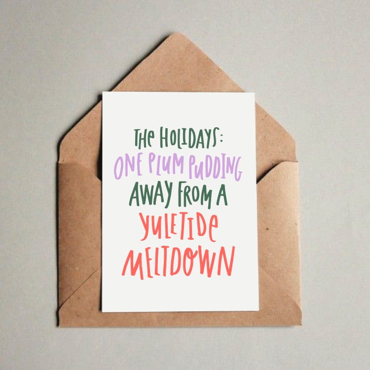 Funny Christmas Holiday Stress greeting card