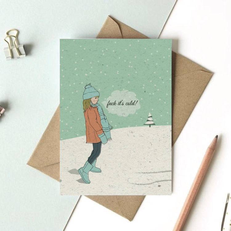 funny Christmas / WInter Holiday greeting card