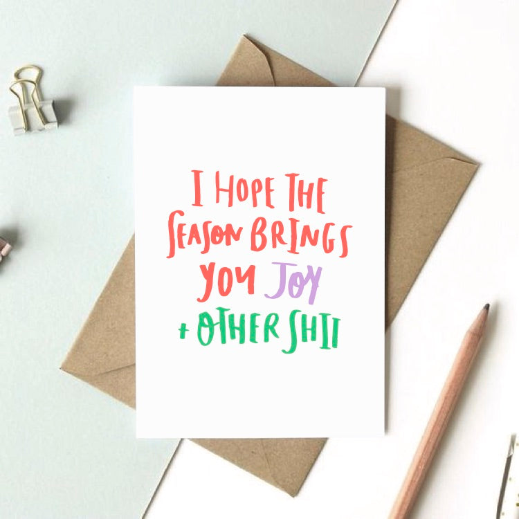 Holiday Joy funny Christmas Holiday Greeting card