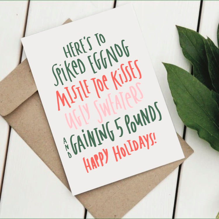 Happy Holidays funny Christmas greeting card