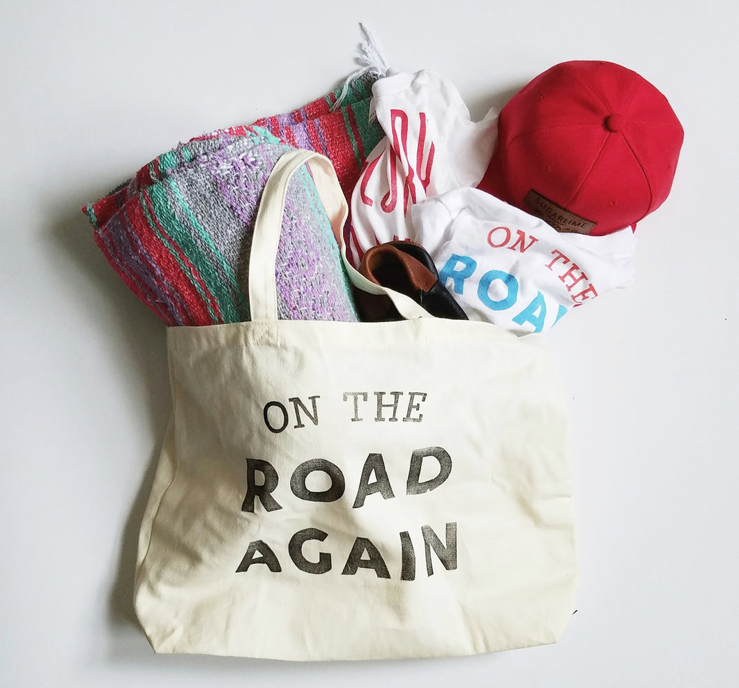 Jumbo On The Road Again canvas tote bag
