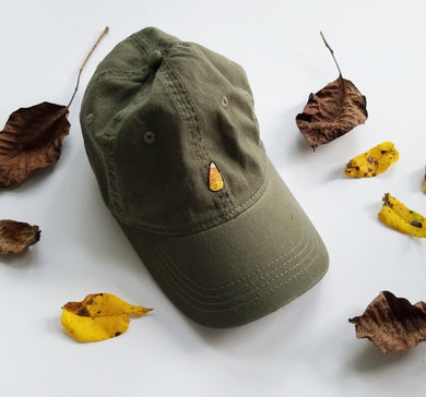 Candy Corn embroidered dad hats