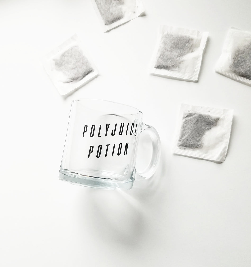 Polyjuice Potion Harry Potter inspired glass mug