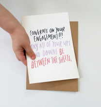 Funny Engagement greeting card - Ups and Downs Inuendo