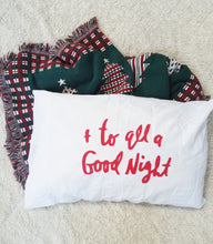 "Soft and cozy ""And To All A Good Night"" Holiday Themed pillow case"