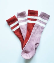Dusty Rose Retro Stripe sock
