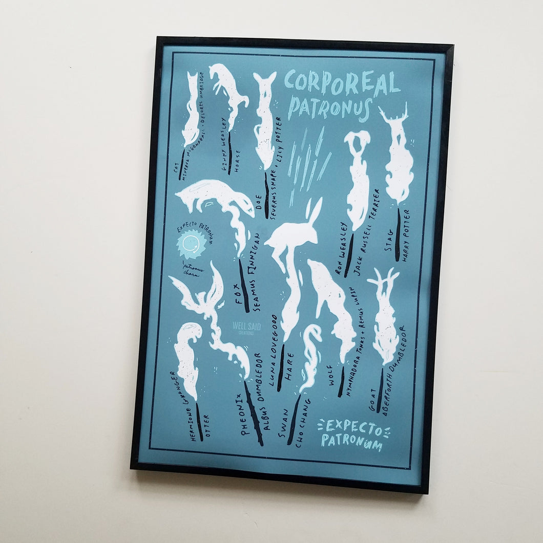 Harry Potter Inspired Patronus Print