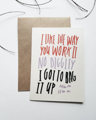 No Diggity Greeting Card