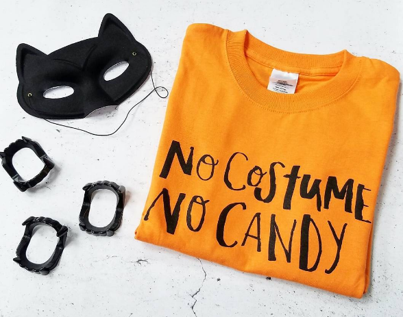 Halloween No Costume No Candy Adult Tee