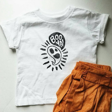 BooYa cute ghost toddler and youth vintage inspired tee