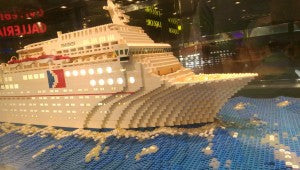 Carnival Fantasy features a LEGO Model of Itself Onboard
