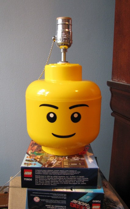 LEGO Minifigure Storage Head Lamp Conversion