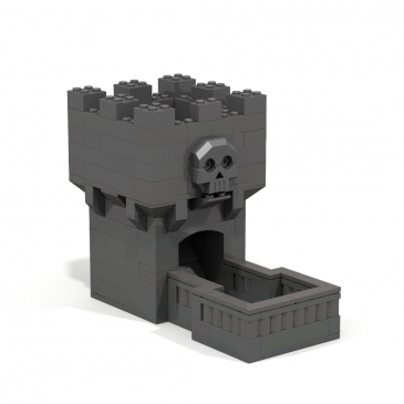 Downloadable Instructions for Making a Toy Brick Dice Tower