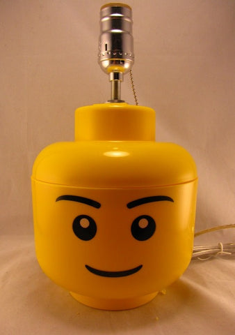 A Simple LEGO Minifigure Storage Container, Transformed into a Lamp.