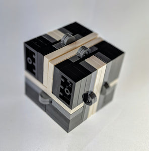 Colorful Magic Folding Fidget Cube Parts KIT, Built with Toy Bricks (Instructions download included)