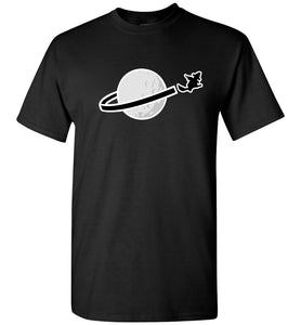 Brick Toy Witch Classic Space Halloween TShirt (Silver Moon)