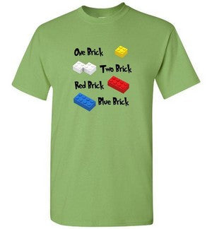 One Brick Two Brick Red Brick Blue Brick Book Themed TShirt