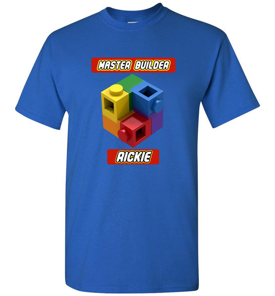 RICKIE First Name Master Builder Brick Toy Fan TShirt Expert Tee